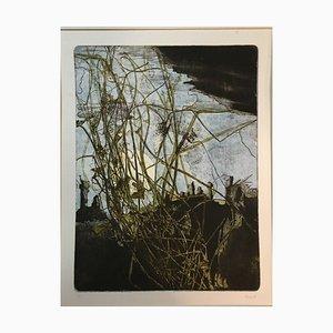 Acquaforte, Mario Derra, Gernsheim in the Grass, 1954