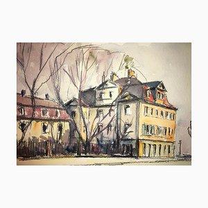 Bellevue Kassel, 1947, Watercolor