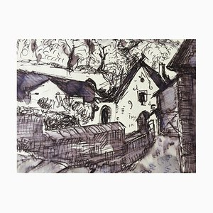 Heymo Bach, Kloster Eberbach, 1987, Watercolor
