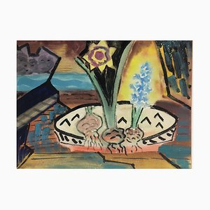 Maria Proell, Still Life with Bulbs, 1956, Mixed Media