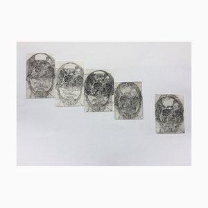 Fassbinder & Rainer Werner, to the Skull Metamorphosis, Etchings, Set of 5