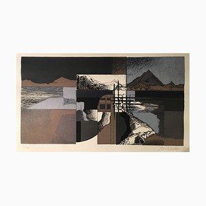 Birkhölzer Johannes, Essen Lives in Wuppertal Landscape, 1931, Brown Color Lithograph