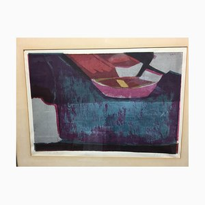 Husemann Erich 1928 - 2008, Kahn, Color Lithograph