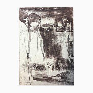 PIT MORELL 1939, Kassel Worpswede, Pair u. Man, Realism