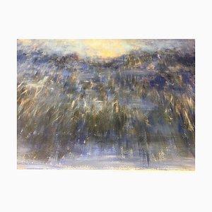 Composition bleue, années 90, technique mixte sur papier