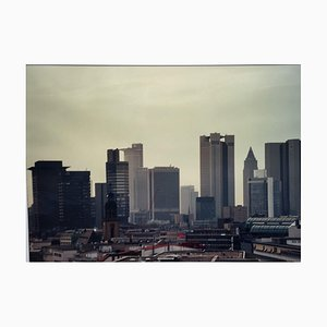 Frankfurt / M Skyline Mainhattan Crane Painted, 1970/80s, Photography