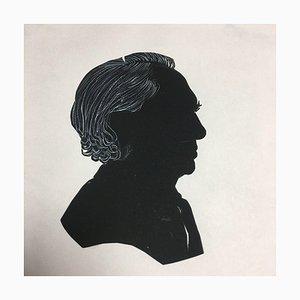 Hilmar Hoffmann, 1960er Jahre Prof Top Silhouette Hair White Anhebung