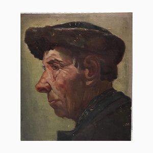 Porträt, Öl auf Papier