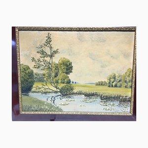 B. Grzywatz, Landscape, 1951, Öl auf Leinwand