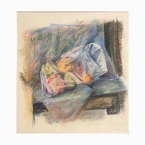 Einkaufstasche auf dem Stuhl, Pastell