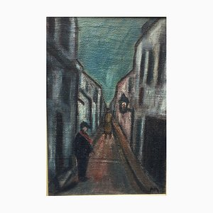 Impressionist Alley, Oil on Canvas