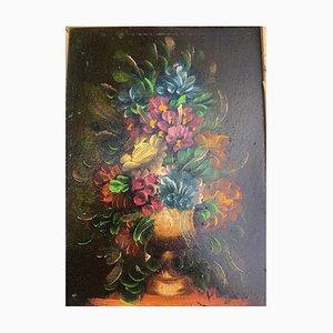 Blumen, 1980-2000, Öl auf Hartfaserplatte