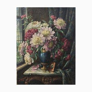 William Sommer, Vase, 1924, huile sur toile