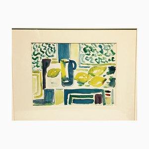 Theodor Reichart, Kitchen Still Life, 1958, acquerello