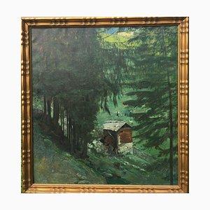 Tillberg Harald, Montaña de heno para 3 personas, óleo sobre lienzo