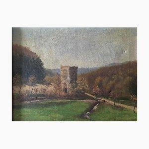 Baron Loewenstern, Lahnstein Forest Valley, 1918, Öl auf Leinwand