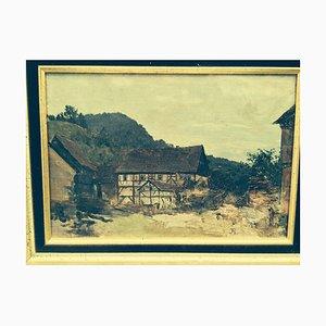 Josef Kleinsassen Rummelaacher, Rhon Fulda Milseburg, 1897, huile sur toile