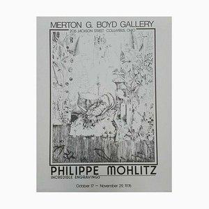 Philippe Mohlitz, Merton G Boyd Gallery Columbus Ohio, Increíble grabado, Póster, 1976