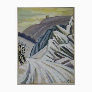 Daniel Seip, 1893-1985, Landscape, Mixed Media