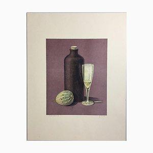 Günther Blau, Bottle Glass Pumpkin, 1976, litografia