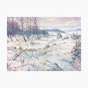 Winterlandschaft, Öl auf Leinwand