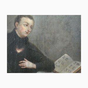 Johann Andreas, Little Master Praying, Óleo sobre lienzo