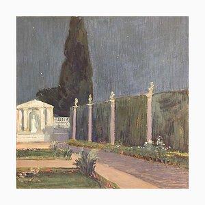 Garden Palace, Gouache auf Papier