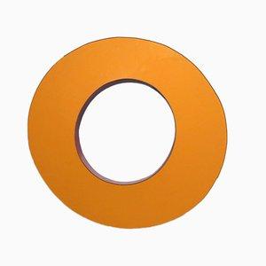 Letra O industrial vintage grande naranja, años 70