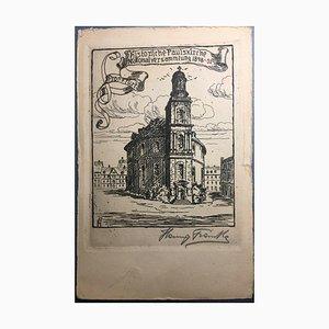 Hanny Franke, 1890-1973, Paulskirche, Radierung