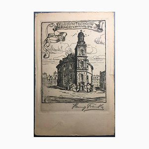 Hanny Franke, 1890-1973, St. Paul's Church, Etching