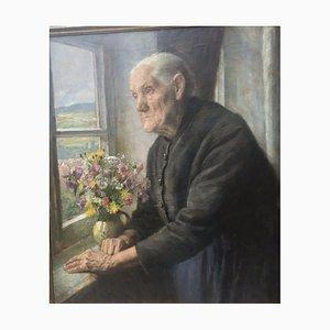 Heinrich Pforr, Ähnlichkeit meiner Mutter, 1936, Öl auf Leinwand