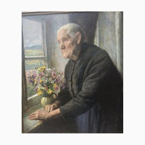 Heinrich Pforr, semejanza de mi madre, 1936, óleo sobre lienzo