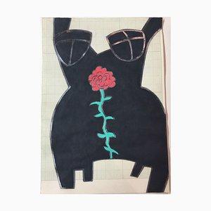 Carmen Berr, 1992, Gouache sobre papel