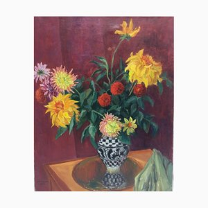 Bodegón de flores, 1959, óleo sobre lienzo
