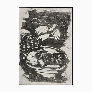Heinrich Steiner, 1911-2009, Dove Table, Woodcut