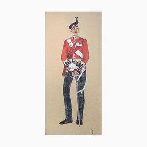 King's Major, Gouache on Paper, 1926