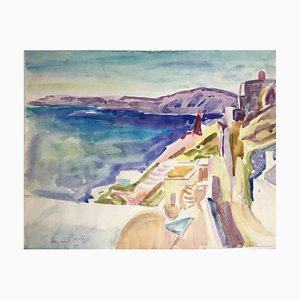 Heymo Bach, Mittelmeer, Aquarell