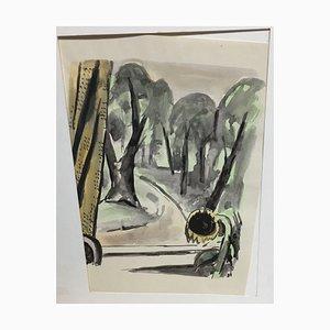 Hellmuth Mueller-Leuter, 1892-1973, n ° 1, techniques mixtes, lot de 12
