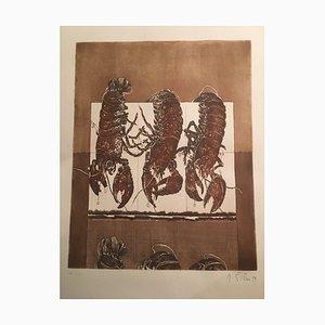 Ivica Sisko Zagreb, Three Lobsters, 1977, Aquatint