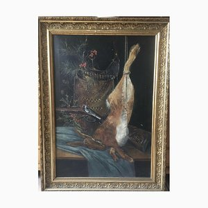 Natura morta a forma di caccia, olio su tela, 1901