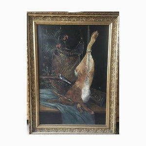 Nature morte de chasse, huile sur toile, 1901