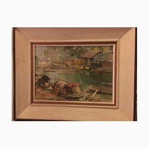 Le Minh, accanto al fiume, 1964, olio su tela