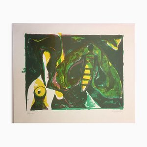 Lithographie Volker Benninghoff, 1921-2009, Green Insect
