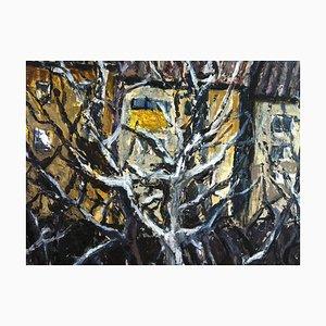 Jung in Kim, 1996-1997, Hinterhof im Winter, Acryl auf Papier