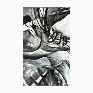 Jung in Kim, 1996-1997, Schwarz und Weiß, Acryl auf Papier