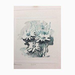 Lithographie Oscar Gramann, Paisies, 1909