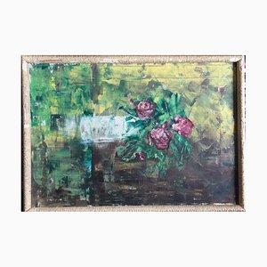 Ischia Neapel, Fleurs, 1969, huile sur toile