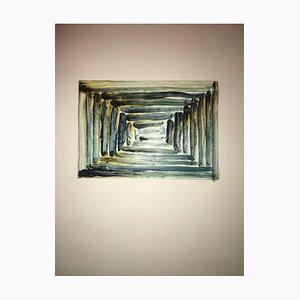 Anna Tretter, Paris, 1991, Schellack und Pigment on Paper