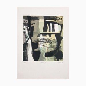 Lithographie Elisabeth Mabres, 1958