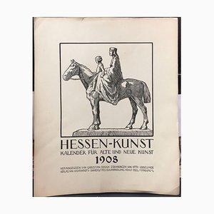 Otto Ubbelohde, Kalenderseite von Hesse Art 1908, Willingshausen